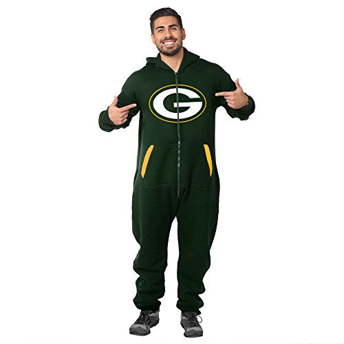 Forever Collectibles NFL Unisex Green Bay Packers Jumpsuit