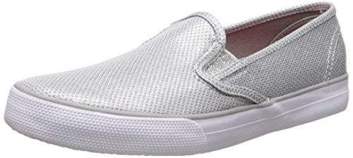 Sperry Kids Top-Sider Seaside Slip On Sneaker,Silver