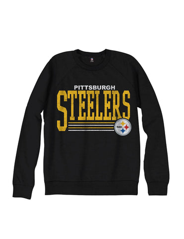 Pittsburgh Steelers NFL Men's Fundamentals French Terry Crew Sweatshirt, Black