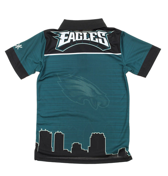 NFL Youth Philadelphia Eagles City Poly Polo, Green