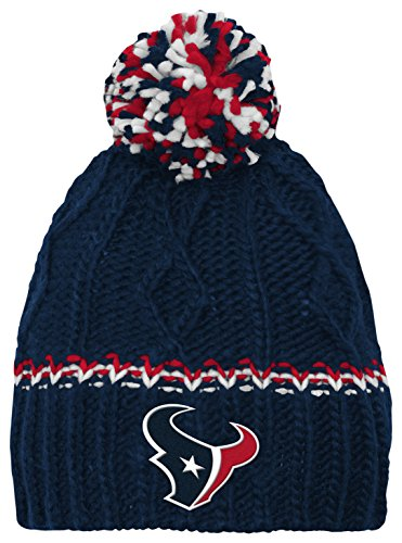 Outerstuff NFL Youth Girls (7-16) Houston Texans Cable Knit Rib Cuffless Hat