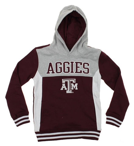 NCAA Youth Texas A&M Aggies Throwback Block Hoodie