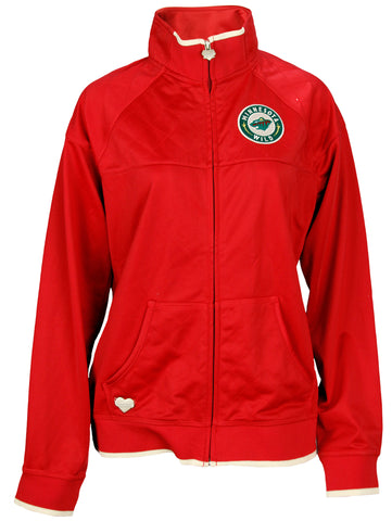 Reebok NHL Hockey Women's Minnesota Wild Quilted Track Jacket, Red