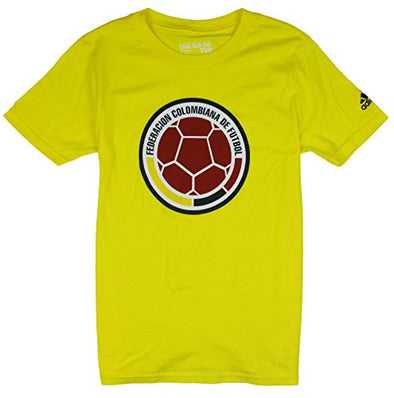 Adidas FIFA FCF Youth Columbia National Football Team Go To Tee, Yellow