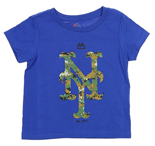 Outerstuff MLB Toddlers New York Mets USMC Woodland Camo Logo T-Shirt