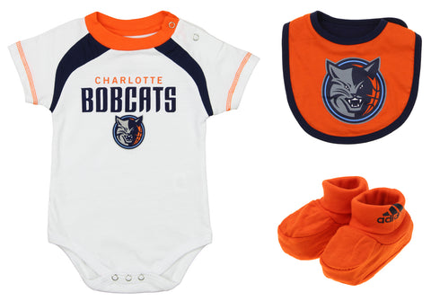 95f9566f4 Adidas NBA Newborn Charlotte Bobcats Bib and Bootie Set, White