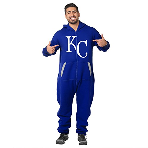 Forever Collectibles MLB Unisex Kansas City Royals One Piece Jumpsuit, Blue