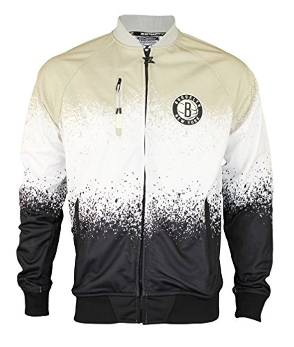 Zipway NBA Men's Brooklyn Nets Retro Pop Full Zip Jacket, Black