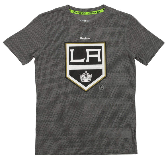 Reebok NHL Youth Los Angeles Kings Short Sleeve Fashion Tee, Gray