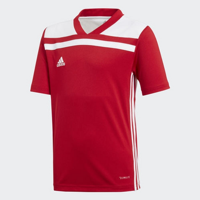 Adidas Boys Youth Regista 18 Soccer Jersey, Red/White Large (14-16)