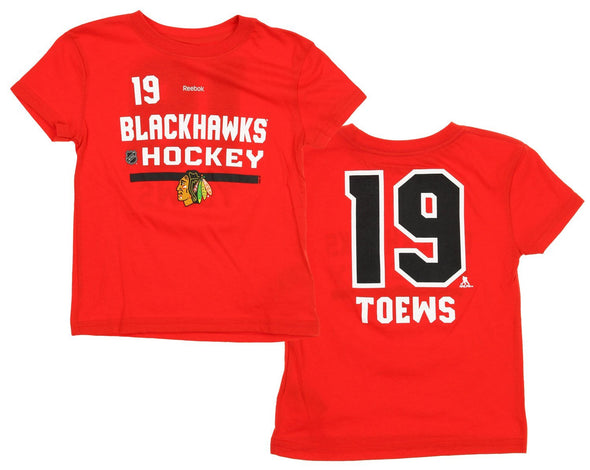 Reebok NHL Youth Chicago Blackhawks Jonathan Toews #19 Speedwick Player Tee
