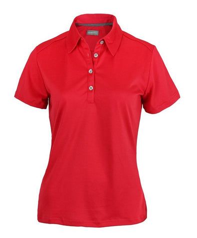 Ashworth Women's Performance EZ-SOF Solid Short Sleeve Golf Polo Shirt, 2 Colors