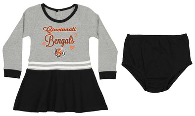Outerstuff NFL Toddler Girls Cincinnati Bengals Team Name Dress Set