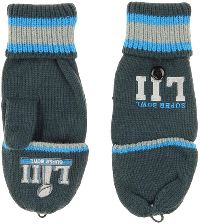 Outerstuff NFL Youth Boys (8-20) Super Bowl 52 Convertible Mittens, OSFM