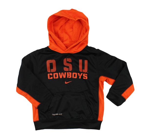 Nike NCAA Toddler OSU Oklahoma State Cowboys 2-piece Hoody and Pants, Black/Orange