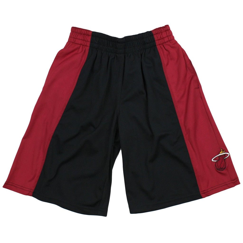 Zipway NBA Basketball Big Boys Miami Heat Team Color Shorts - Black