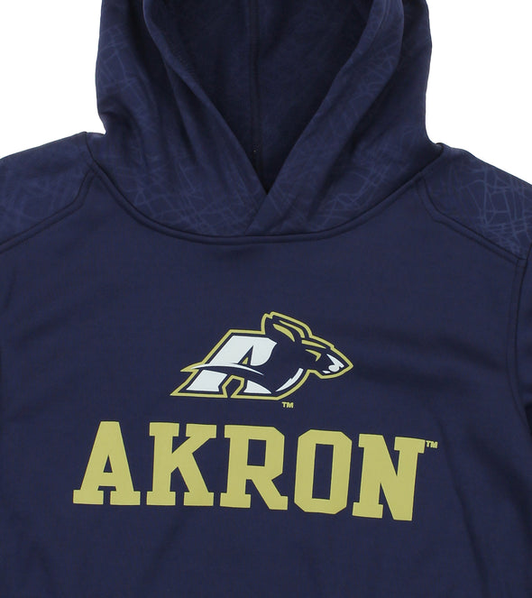 NCAA Youth Akron Zips Performance Hoodie, Navy