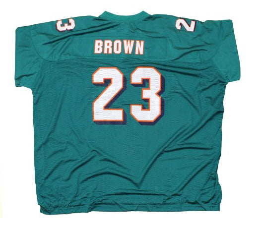 1260e06de42ea Reebok NFL Men's Miami Dolphins Ronnie Brown #23 Replica Jersey, Aqua –  Fanletic