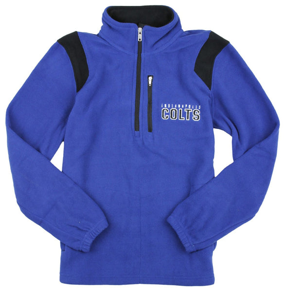 NFL Football Youth Boys Indianapolis Colts 1/4 Zip Micro Fleece Sweater, Blue
