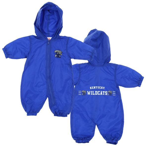 NCAA Infant Kentucky Wildcats Hooded Windbreaker Coverall, Blue