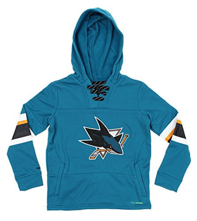 NHL Youth San Jose Sharks Offside Poly Fleece Pullover Hoodie