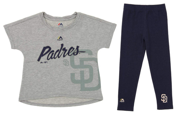 Outerstuff MLB Little Girls San Diego Padres Drop Tail Batter Set