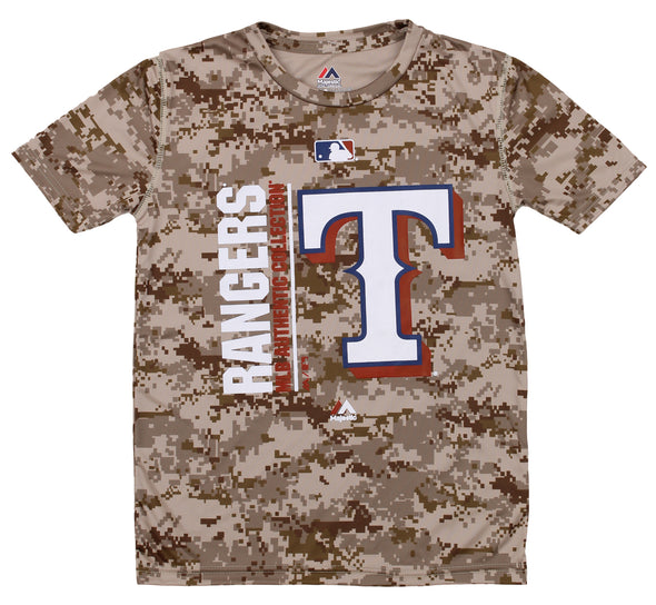 Majestic MLB Youth Texas Rangers Short Sleeve AC Team Icon Tee