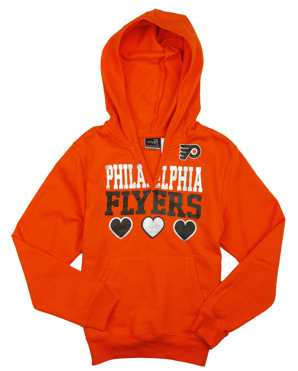 NHL Hockey Kids / Youth Girls Philadelphia Flyers Split Neck Hoodie - Orange