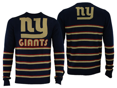 Forever Collectibles NFL Men's New York Giants Retro Stripe Crew Neck Sweater