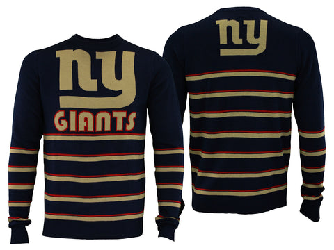 ed3a4378 Forever Collectibles NFL Men's New York Giants Retro Stripe Crew Neck  Sweater