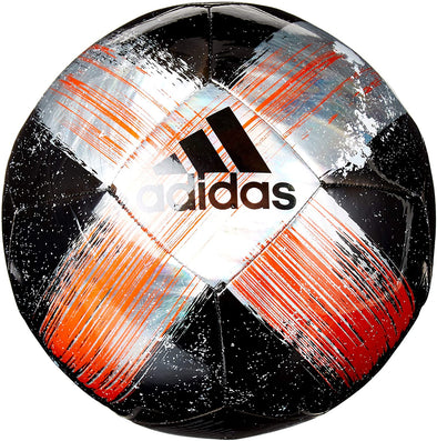 Adidas Capitano Club Soccer Ball, Size 3, Black/Silver/Red