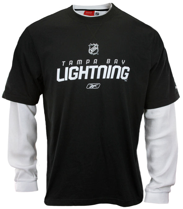 Reebok NHL Men's Tampa Bay Lightning Long Sleeve Thermal Novelty Shirt, Black