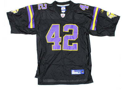 NFL Men's Minnesota Vikings Darren Sharper #42 Alternate Replica Jersey, Black