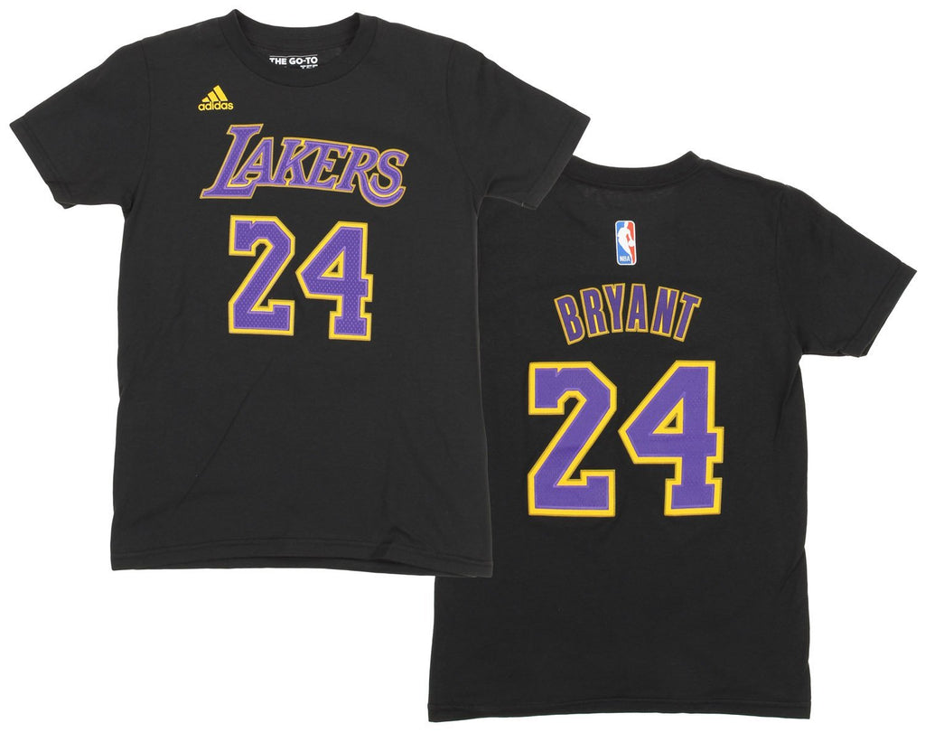 fc3a4e853ce Adidas NBA Youth Los Angeles Lakers Kobe Bryant  24 Gametime Player Shirt