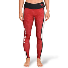 Forever Collectibles NFL Women's Arizona Cardinals Team Stripe Leggings, Red