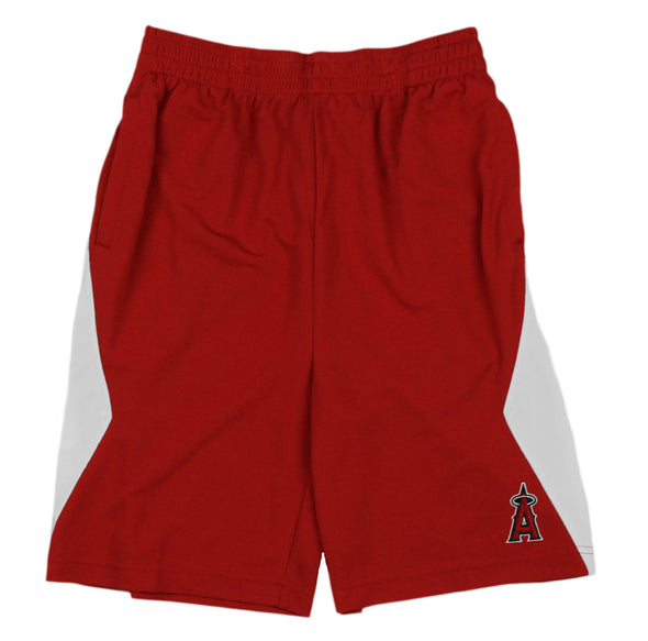 MLB Baseball Kids / Youth Los Angeles Angels Team Shorts - Red