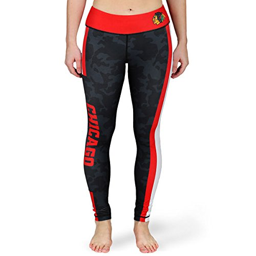 Forever Collectibles NHL Women's Chicago Blackhawks Stripe Leggings