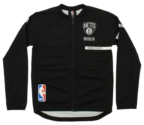 Adidas NBA Youth Brooklyn Nets On Court Jacket, Black