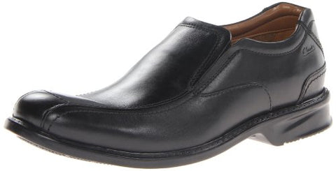 Clarks Men's Colson Knoll Slip-On Loafers Leather Shoes, Black