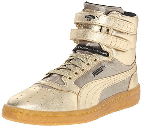 PUMA Women's Sky II HI Metallic Sneaker, Metallic/Gold
