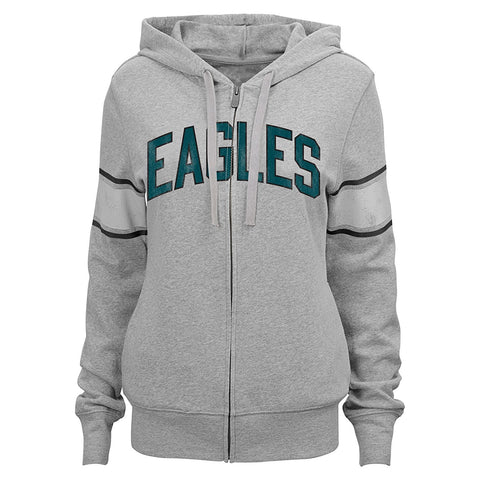 "NFL Junior Girls Philadelphia Eagles ""Boyfriend"" Full Zip Hoodie"