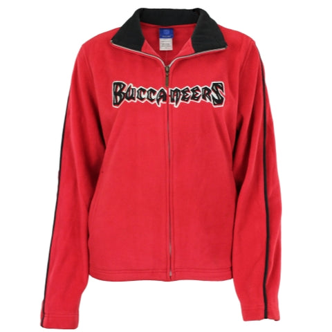 Reebok NFL Women's Tampa Bay Buccaneers Full Zip Womens Fleece Jacket, Red