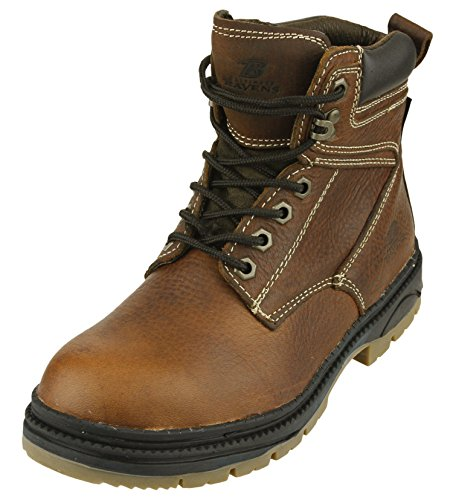 NFL Men's Baltimore Ravens Steel Toe Lace Up Leather Work Boots - Brown