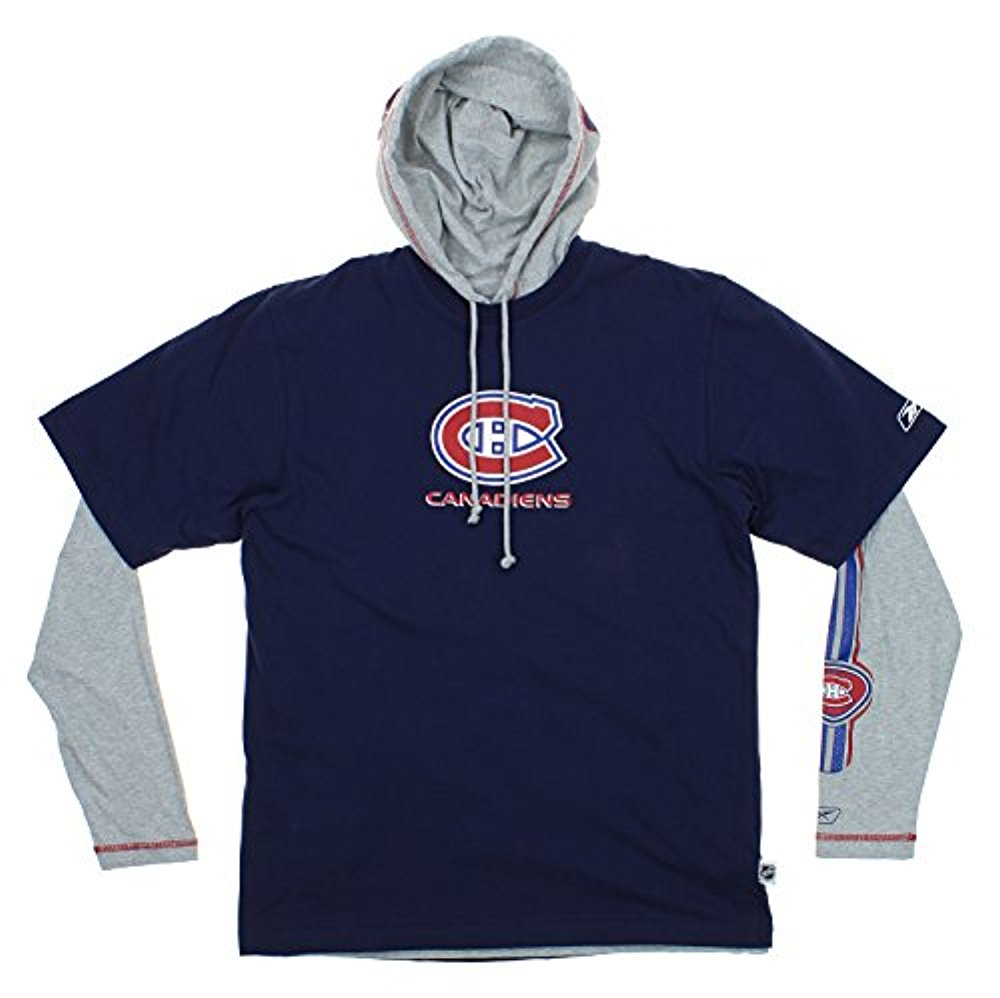 Reebok NHL Men s Montreal Canadiens Hoodie and T-Shirt Combo Set ... 7b4be2d854c