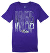 NFL Football Youth Girls Baltimore Ravens The Kimball Shirt - Purple