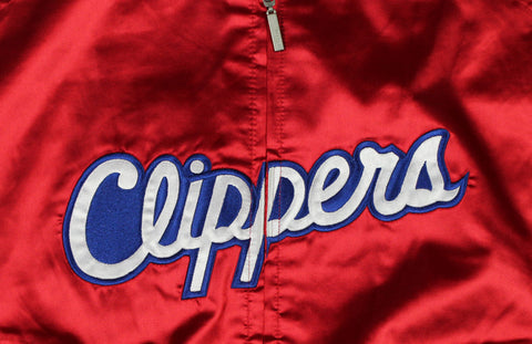 NBA Los Angeles Clippers Women's Juniors Reebok Satin Jacket, Red
