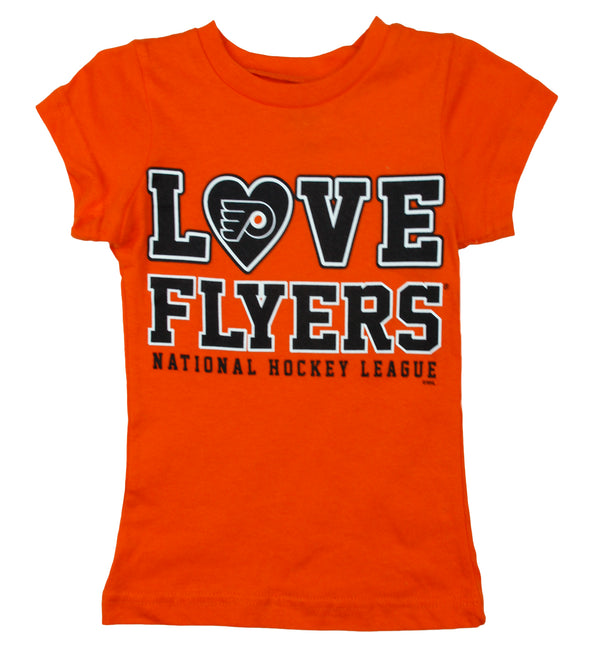 NHL Toddler Girls Philadelphia Flyers Love Shirt - Orange