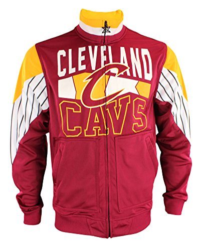 Zipway NBA Mens Cleveland Cavaliers Step Up Full Zip Athletic Jacket
