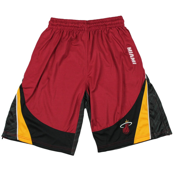 Zipway NBA Basketball Men's Miami Heat Wave Team Colors Shorts, Red