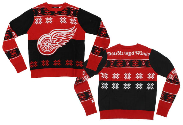 NHL Youth Detroit Redwings Ugly Crew Neck Team Sweater